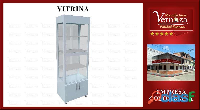 12 vitrina exhibidora estructura en mdf de excelente calidad