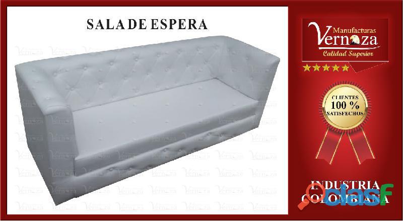 14 SALA DE ESPERA CAPITONEADA COLOR QUE USTED PREFIERA