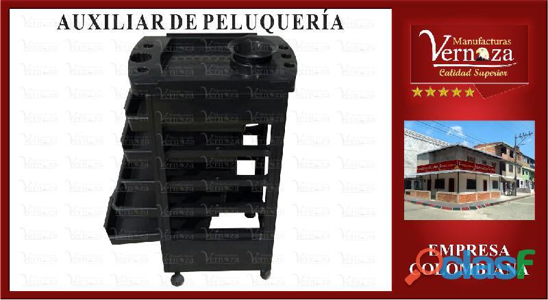 15 HERMOSO AUXILIAR DE VARIOS NIVELES COLOR NEGRO