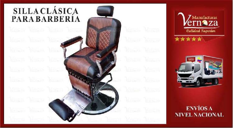 2 silla de barberia clasica hidraulica con brazos en