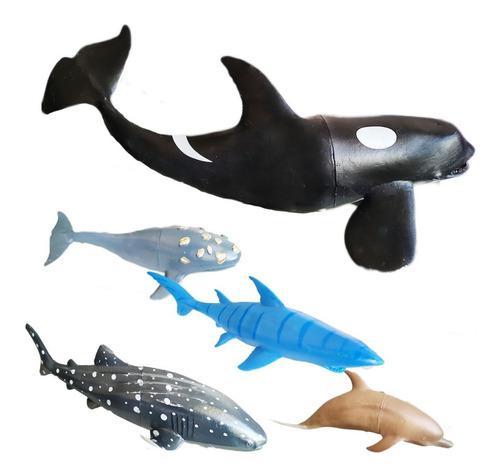 Animales del mar juguete didáctico x5 juguetería
