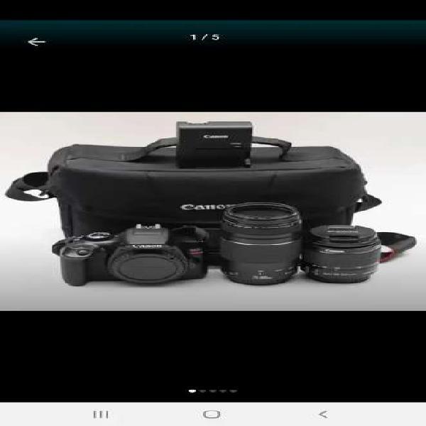 Camara canon rebel eos t6 18mp lente 18-55mm + 32gb + bolso