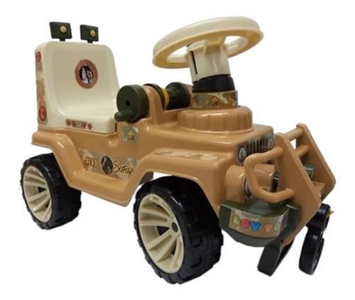 Carro jep montable jungla o safary / sonido.