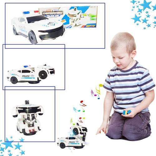 Carro policia transformers luces juguetes jugueteria