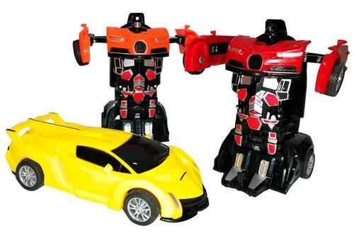 Juguete carro transformer super deportivo niños navidad