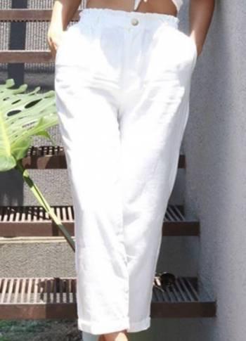 Pantalon blanco nuevo tela fresca
