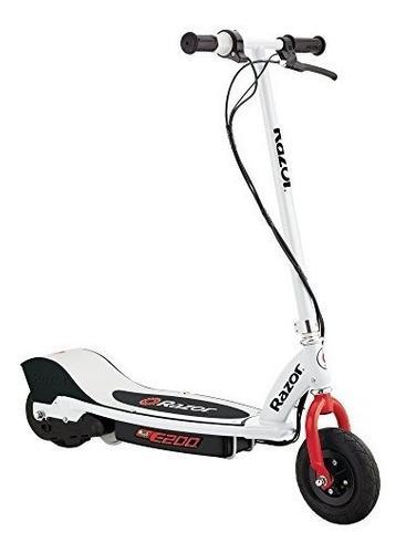 Razor e200 white red scooter patineta eléctrica 19kph