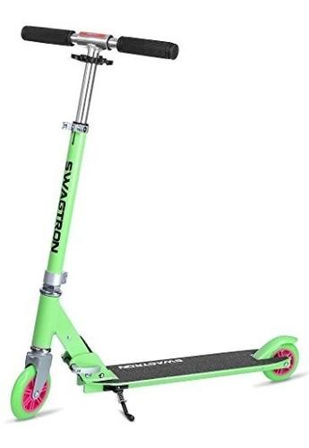 Swagtron k1 green scooter niños adultos hasta 220 lb