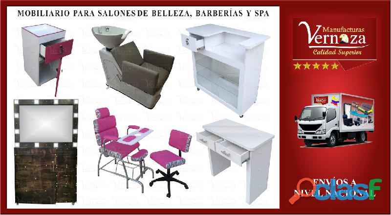 Fabricamos mobiliario para peluqueria, barberia y estetica