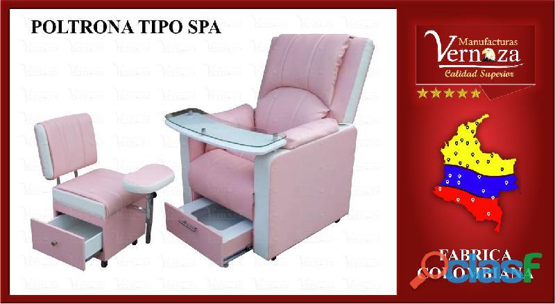 3 poltrona spa para manos y pies con auxiliar para manicurista