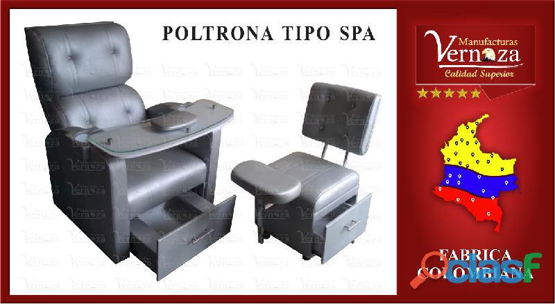 Poltrona spa para manicura con cajones, tabla y almohadillas