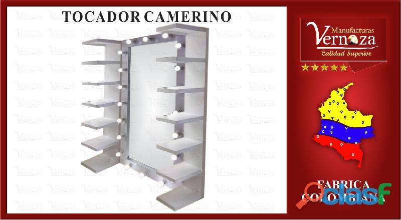 TOCADOR TIPO CAMERINO CON BOMBILLOS, PURA CALIDAD