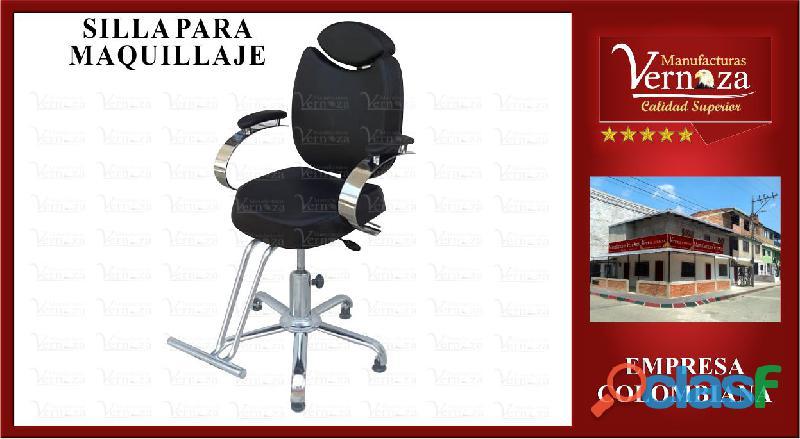 18 silla negra para maquillaje y mucho mas, color que desees