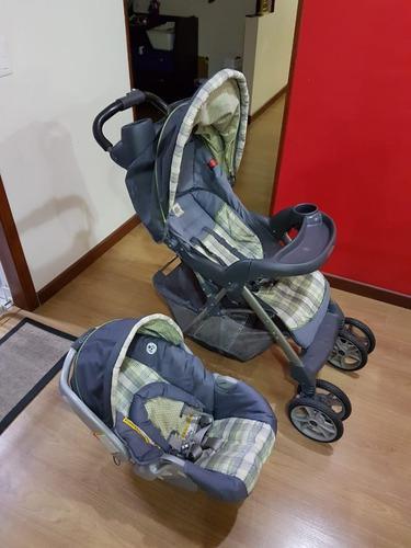 Coche bebe graco + silla porta bebe + soporte vehiculo