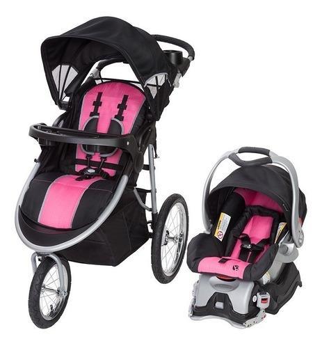 Coche stroller bebe niña baby trend + silla carro pink