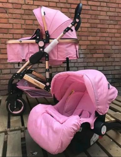 Coche tipo moisés. con silla porta bebe,cubrepies. aluminio