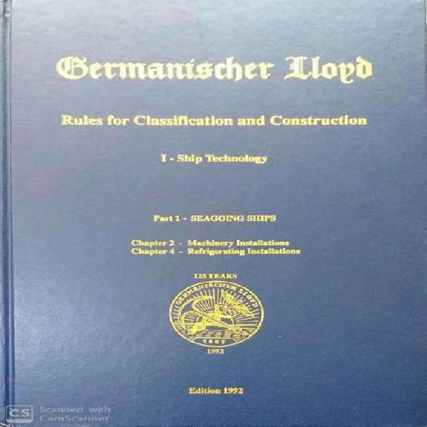 Vendo germanischer lloyd -rules for classification and