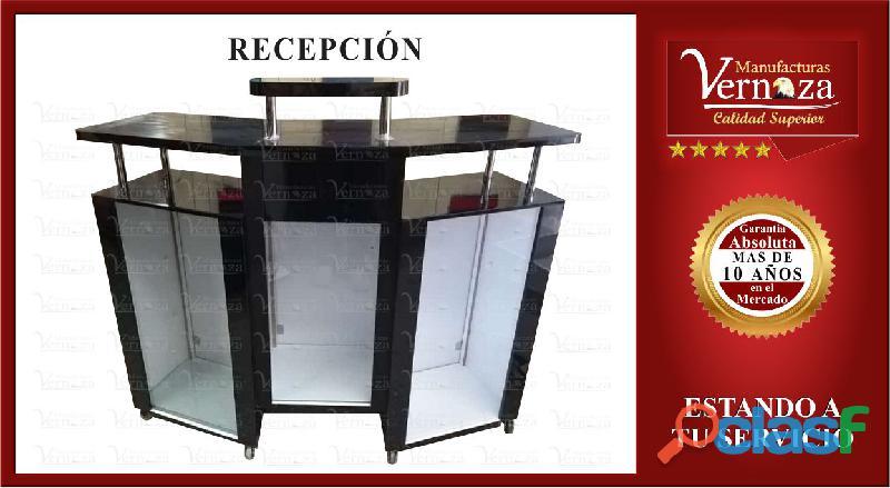 2 RECEPCION TIPO VITRINA 3 MODULOS MUY COMODA
