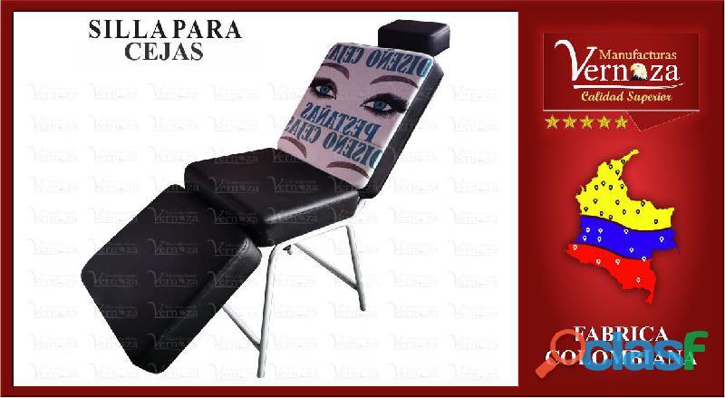 9 exclusiva silla de maquillaje negra con fucsia