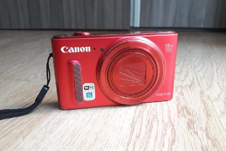 Cámara fotográfica canon powershot sx610 hs(roja)