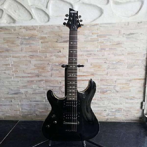 Guitarra eléctrica zurda schecter omen 6