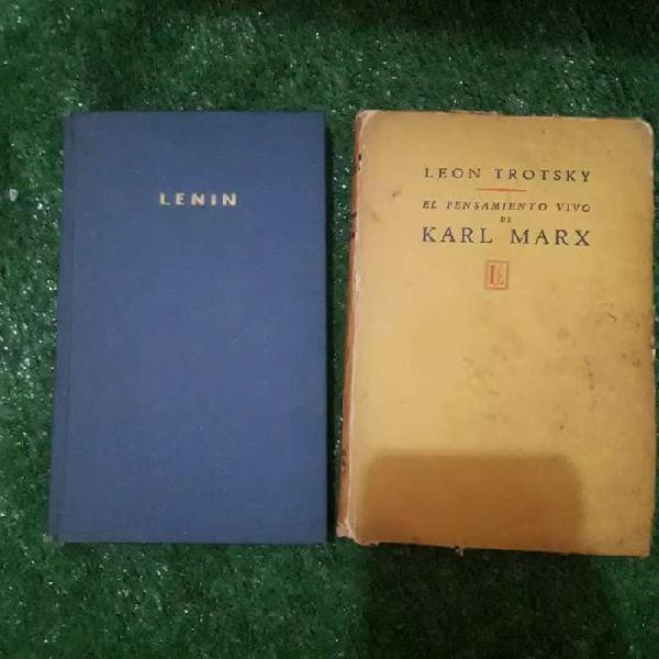 Par libros lennin trotsky marx comunism russia