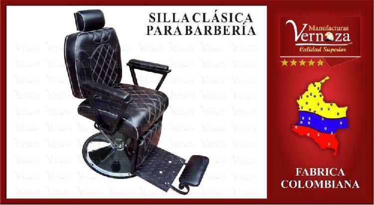 Silla para barberia, color negro