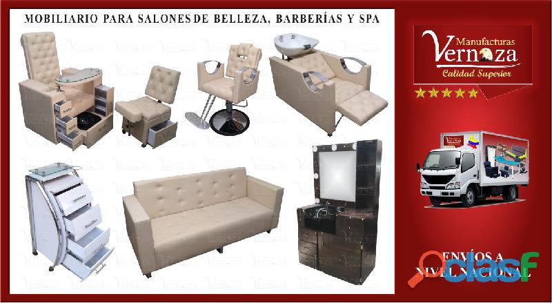 1 fabrica de muebles para peluquería, barbería y estética.