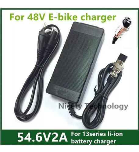 Cargador eléctrica 54.6v2 batería de litio de 48v co