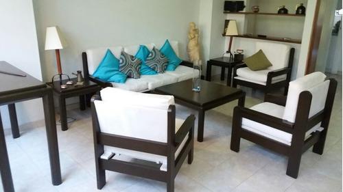 Ganga precio calidad!! sala madera centroamericana