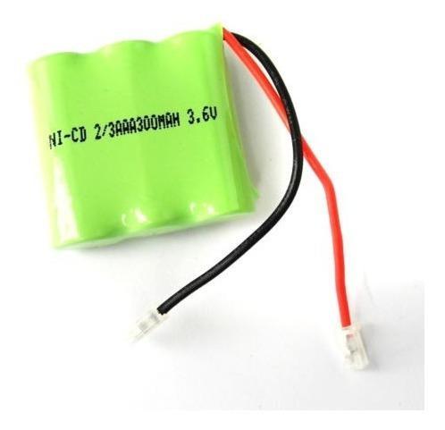 Pila batería recargable ni-cd 2/3 aaa 3.6v 300mah controles