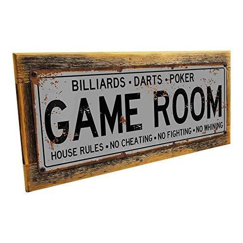 Sala de juegos decorativo metal sign