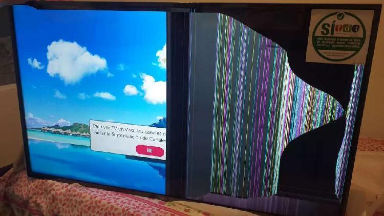 "Vendo tv lg 55"" nuevo con pantalla partida"
