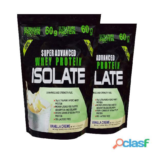 Super advance whey protein isolate x 4 libras