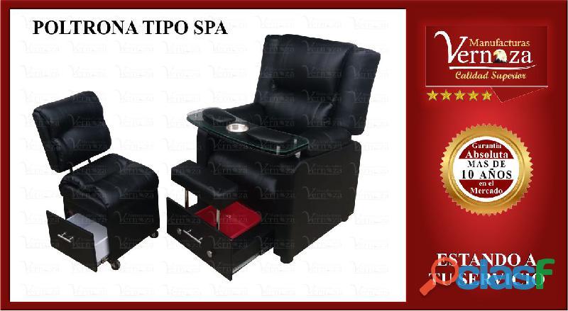 014 poltrona tipo spa color negra tapizada en pranna
