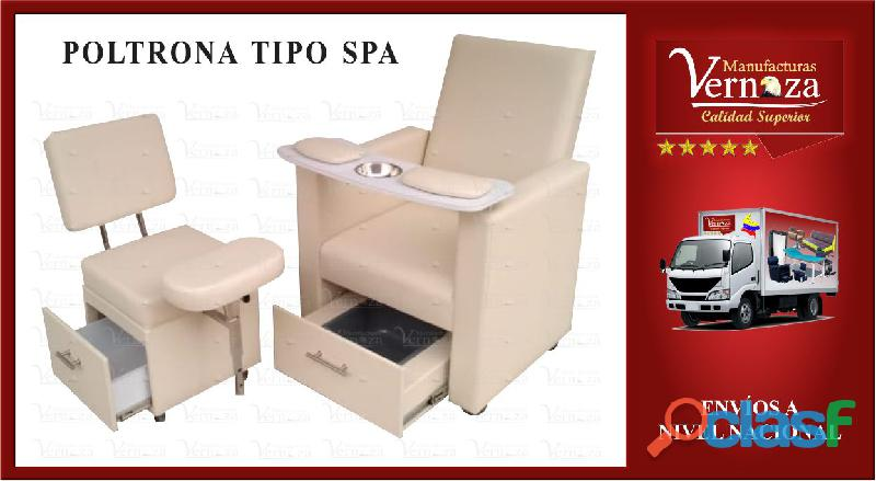 16 poltrona tipo spa color que desees tu preferencia.