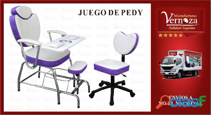 6. silla de pedicura y manicura con comodo espaldar