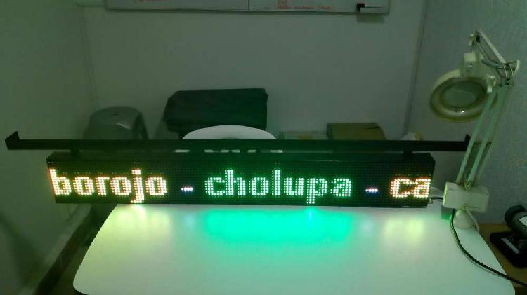 Aviso led full color rgb programable