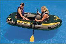 Bote seahawk dos personas con accesorios intex
