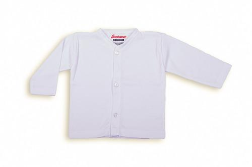 Camiseta manga larga blanca para bebé