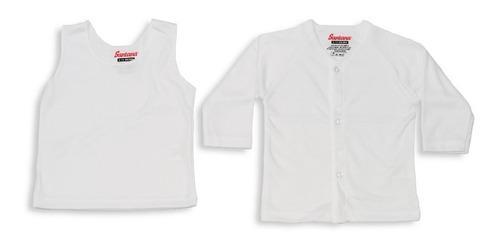 Camiseta manga larga + esqueleto blanco para bebé