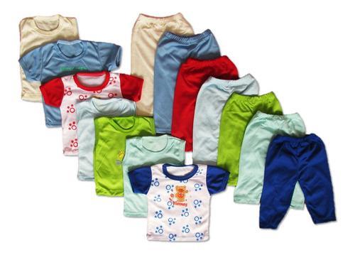 Semanario x14 piezas niño niña algodón fresco y colorido
