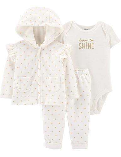 Set carters mamelucos chaqueta niña bebé talla 24 meses