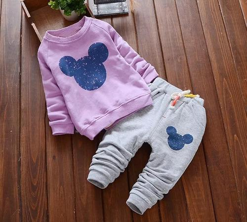 Sudadera conjunto niña bebe ropa infantil minnie mickey