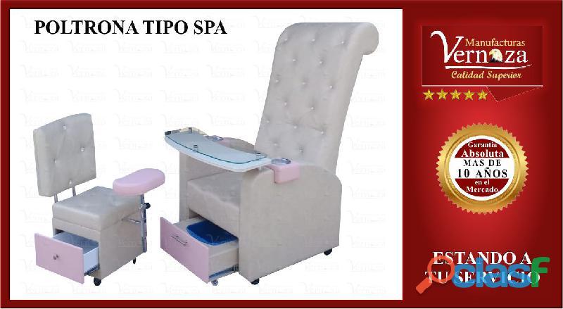 00013  poltrona para manicura y pedicura forrada con material de tu preferencia