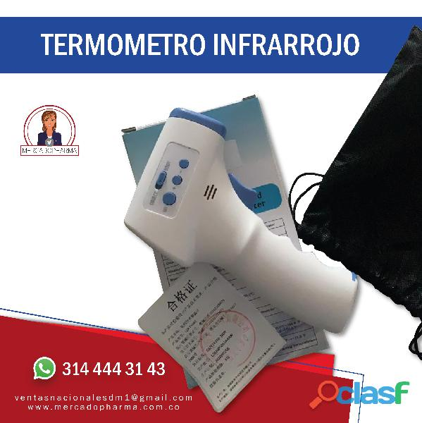 Dispensador, termometro infrarrojo y tapete