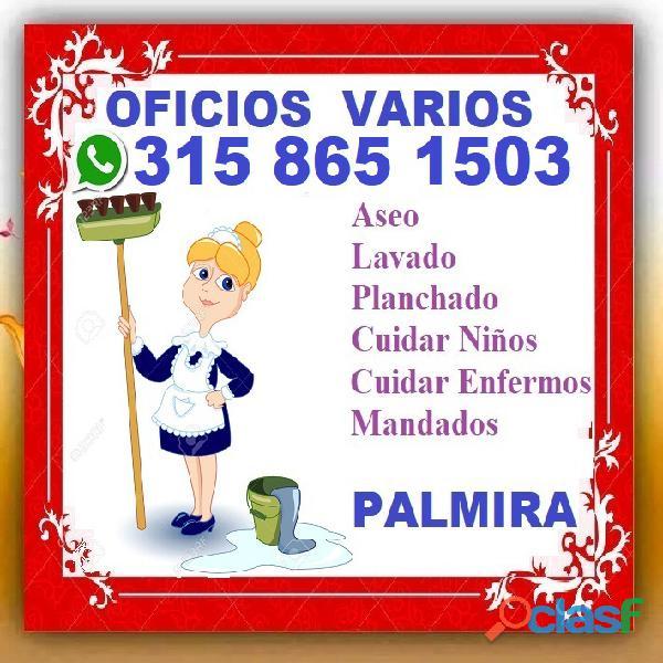 ⭐ se ofrece aseadora, para servicio domestico, limpieza, aseo, lavado, planchado, cuidar niños, enfe