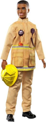Barbie muñeco ken bombero con accesorios mattel fxp05
