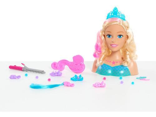 Barbie Peinados Y Sirena Peina 22 Accesorios Original