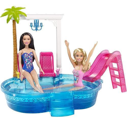 Barbie piscina glamurosa con accesorios barbie muñecas